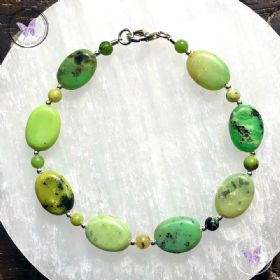Chrysoprase Ovals Bracelet